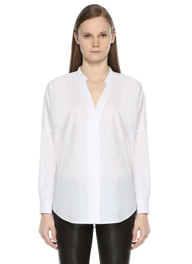 V Yaka Uzun Kollu Gömlek-Bel-Air